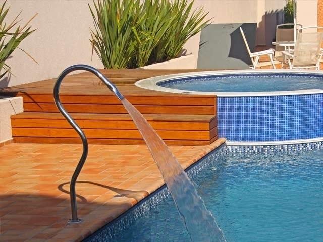 Cascata para piscina a o inox 304 modelo tubolar splash for Modelos de piscinas para fincas