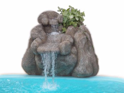 cascata para piscina, de pedras artificiais