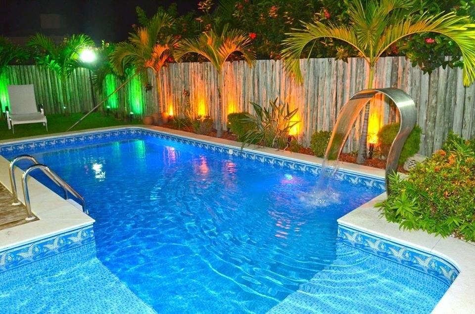 Cascata para piscina em inox modelo tech jr tipo naja nova for Piscinas tipo alberca