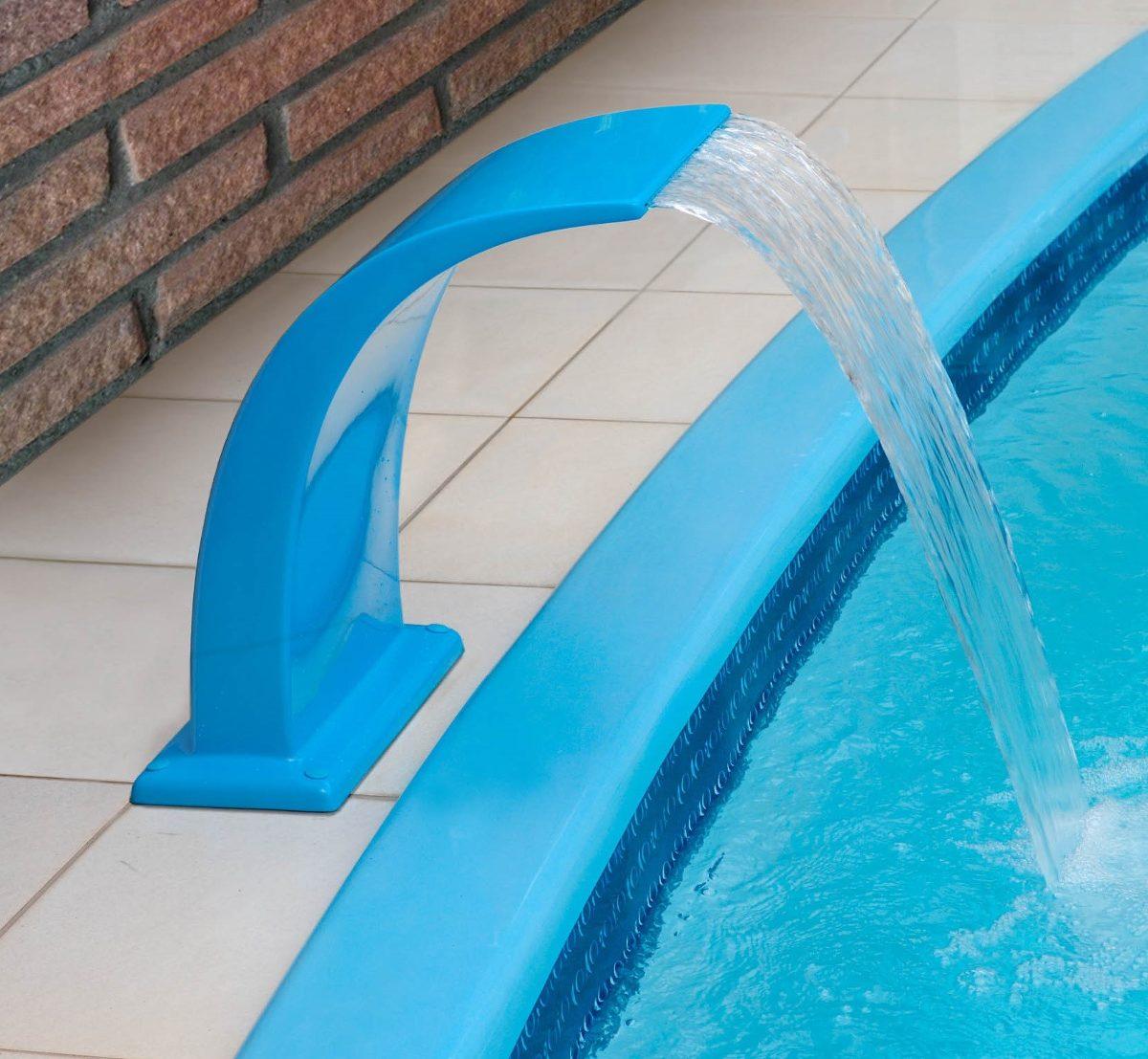 Cascata para piscina havai pq em fibra com frete gratis for Piscina fibra em l