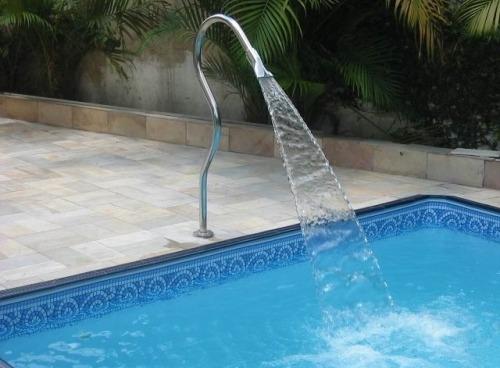 Cascata para piscina inox soft tubular r 348 90 em for Piscina tubular