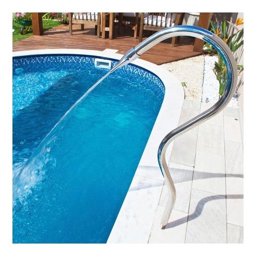 cascata para piscina tubular toda em aço inox 304 splash