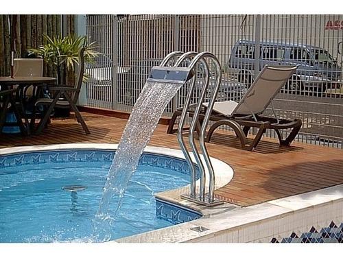 cascata para piscinas inox 304 alto brilho triplo x 100 cm