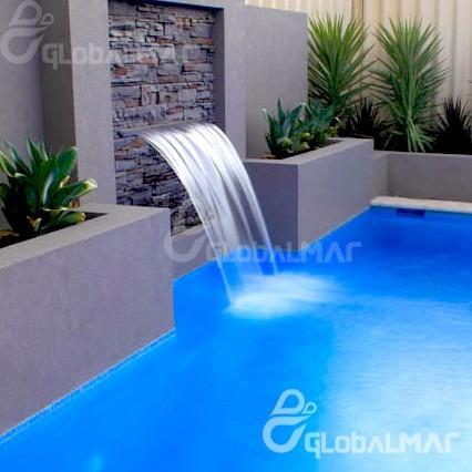 Cascata piscina embutir parede bico inox 80cm frete gr tis for Videos porno gratis piscina