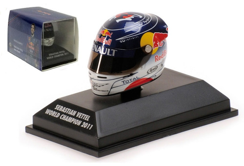 casco 2011 formula f1 escala 1:8 minichamps red bull