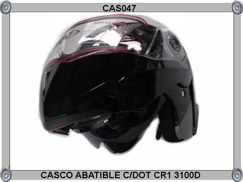 casco abatible c/dot cr1 3100dv