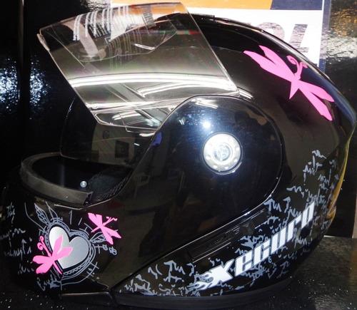 casco abatible doble visor