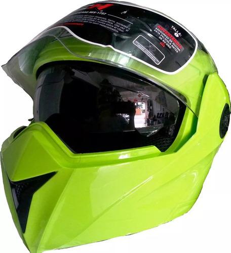 casco abatible doble visor certificado ich  3110 con dot
