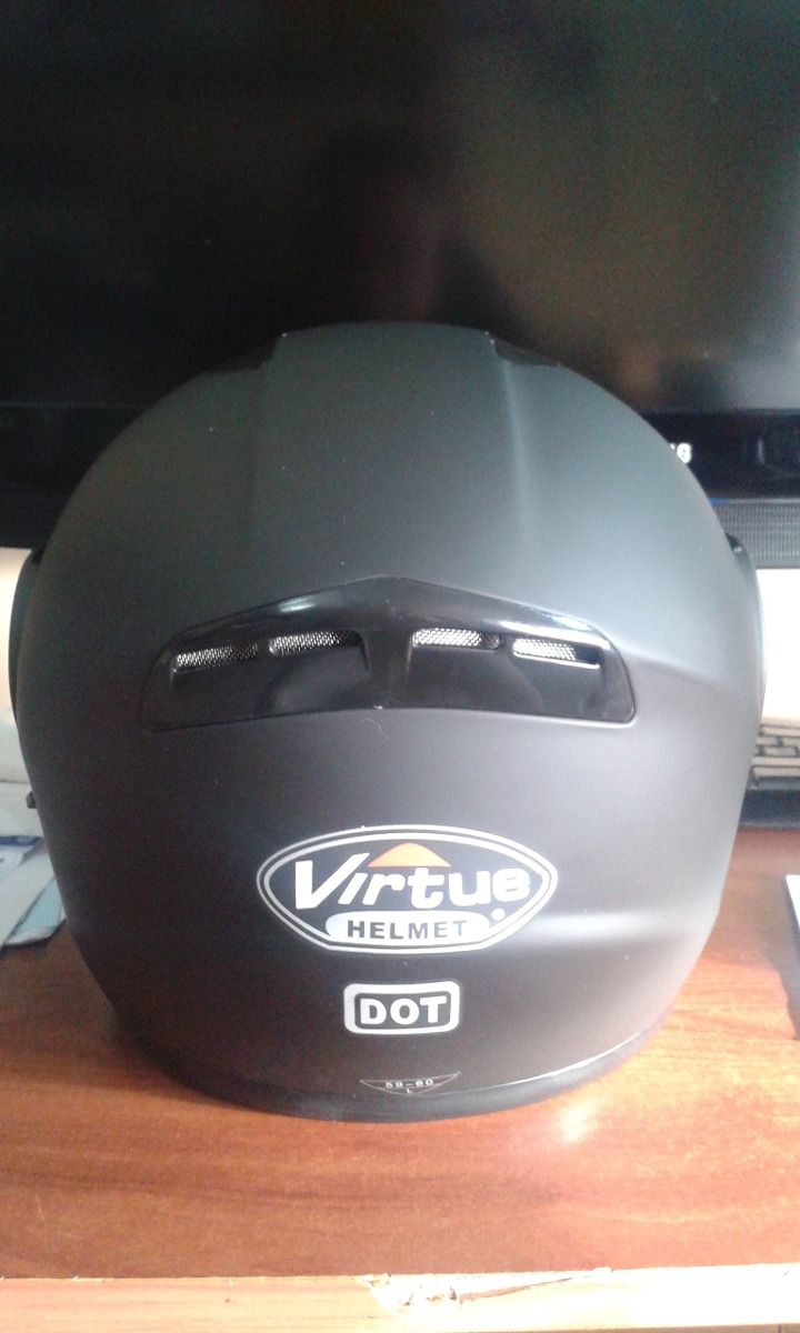 Casco Abatible Doble Visor Virtue Certificado Moto 68