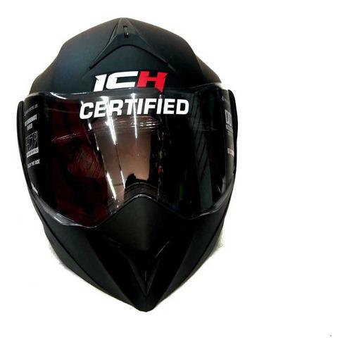 casco abatible ich 3110 certificado + placas gratis