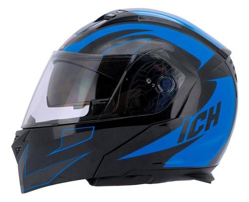 casco abatible ich 3300 doble visor certificado dot
