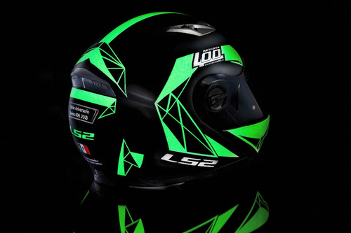 casco abatible ls2 ed. esp. luminiscente + regalos rider one
