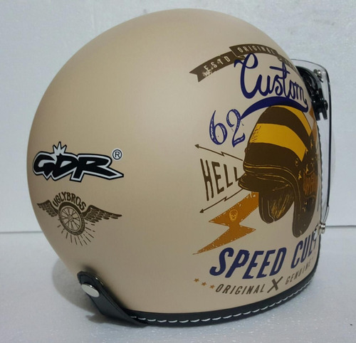 casco abierto gdr jet speed cult beige rider one