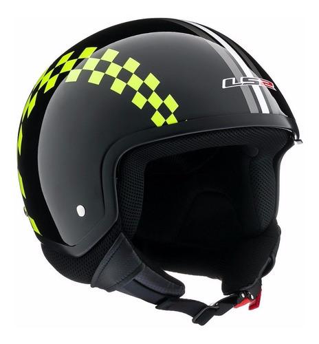 casco  abierto ls2 561 wave dinoco black visor devotobikes