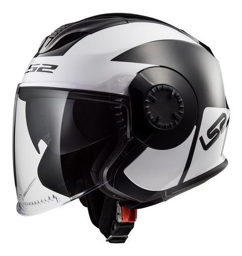 casco abierto ls2 570 verso mobile doble visor devotobikes
