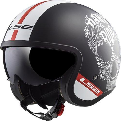 casco abierto ls2 of599 spitfire graficos rider one