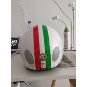 Casco Abierto Moto Ls2 560 Color Blanco Modelo Italiano!!!!