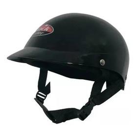 Casco Abierto Moto Tipo Pelela Negro Bicicleta Skate Roller