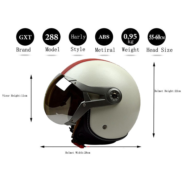 169fb4700fd8f Casco Abierto Moto Vintage Harley Helmet Gxt Unisex -   2.100