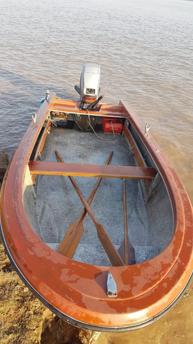 casco abierto + motor mariner 55hp + trailer y equipamiento