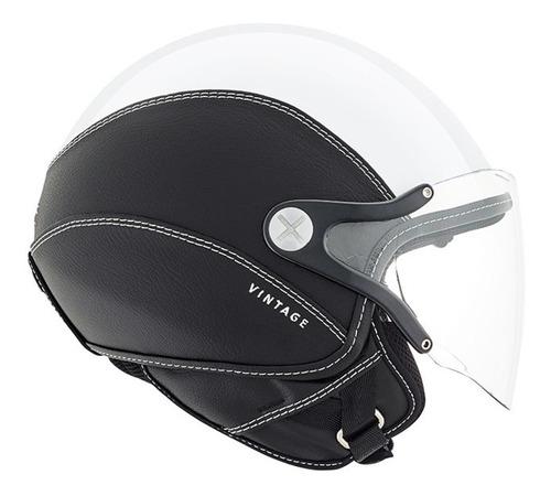 casco abierto nexx sx.60 vintage 2 blanco/negro importado