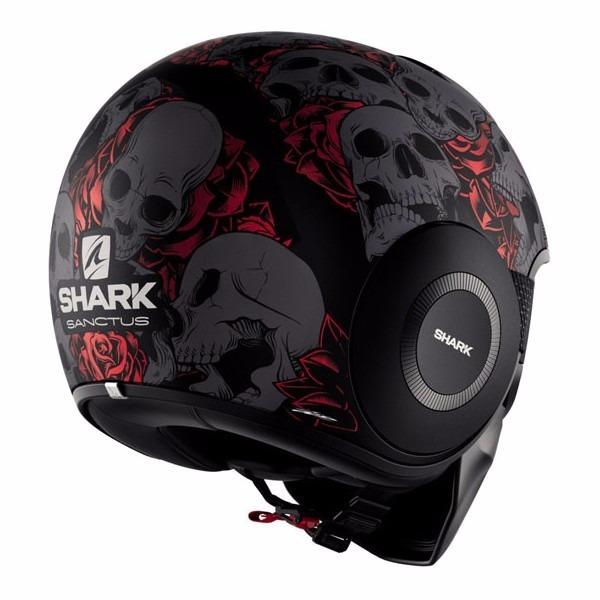 d6ab94503fc0b Casco Abierto Shark Raw Drak Sanctus Matt Black Red Novedad ...