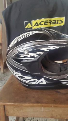 casco acerbis talla  xl  su bolso usado