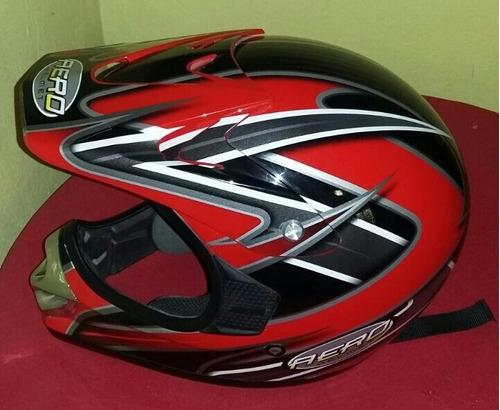 casco aero rojo xl dot