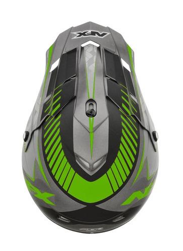 casco afx fx-17 factor frost mx verde/gris xl