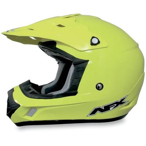 casco afx fx-17 mx sólido amarillo de alta visibilidad 2xl