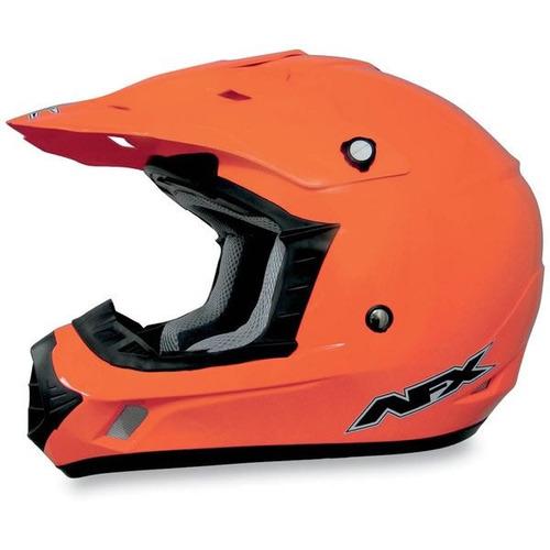 casco afx fx-17 mx sólido de seguridad naranja xs