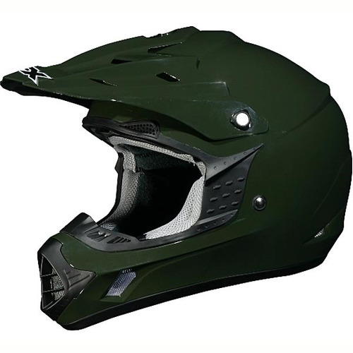 casco afx fx-17 mx sólido oliva lg
