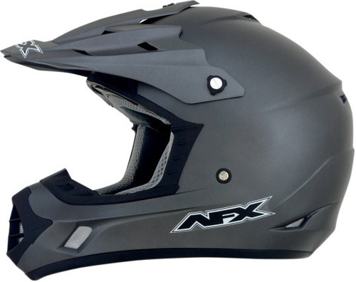 casco afx fx-17y mx juvenil sólido gris frost md