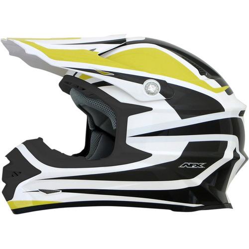 casco afx fx-21 alpha mx/offroad amarillo/blanco lg