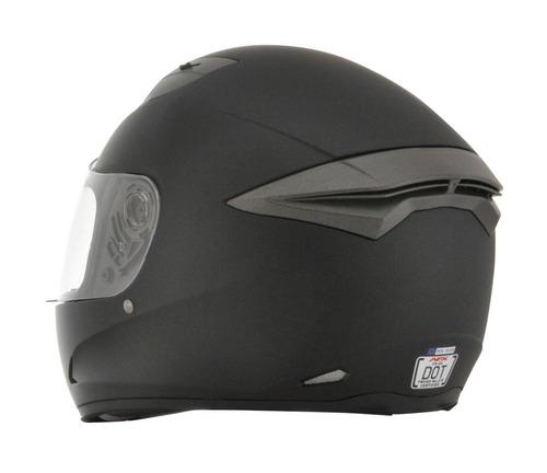 casco afx fx-24 sólido rostro completo negro xs