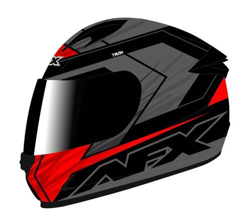 casco afx fx-24 talon rostro completo rojo/negro xs