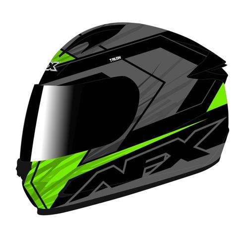 casco afx fx-24 talon verde/negro xs