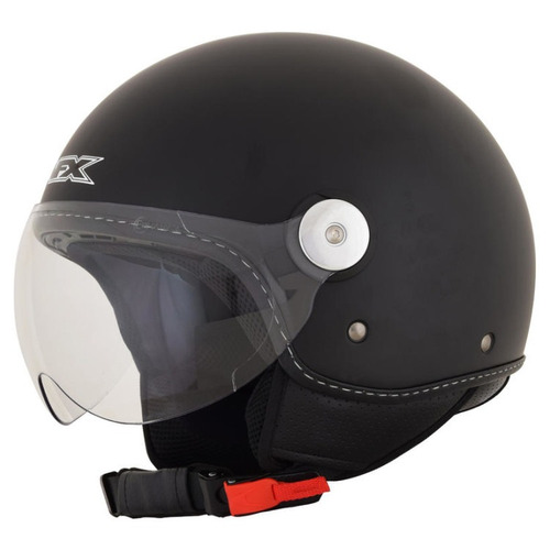 casco afx fx-33 sólido rostro descubierto negro md