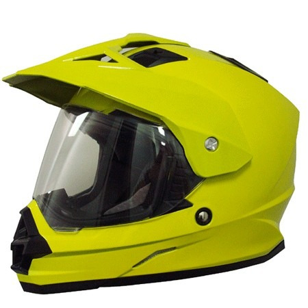 casco afx fx-39ds dual sport macizo cara completa amaril 2xl