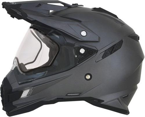 casco afx fx-41ds snow 2016 c/protec. respirador gris lg