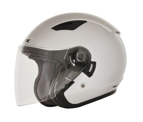 casco afx fx-46 sólido rostro abierto plateado 2xl