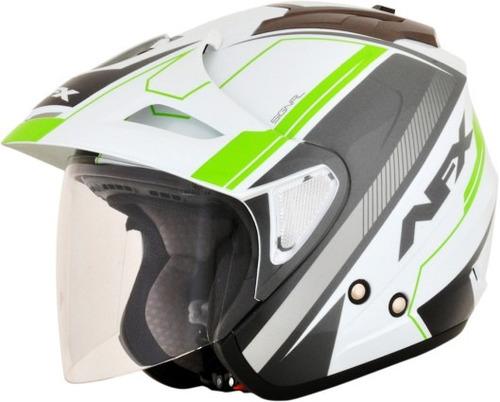 casco afx fx-50 rostro descubierto verde de lg