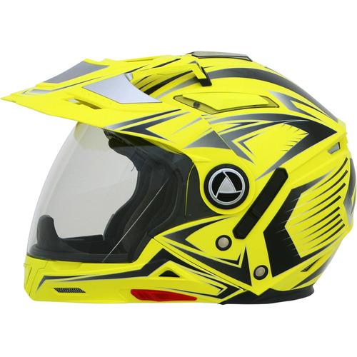 casco afx fx-55 7 en 1 rostro completo, amarillo refract xs