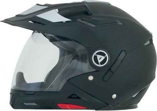 casco afx fx-55 7 en 1 rostro completo sólido negro mate xs
