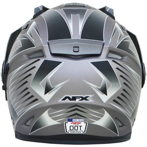 casco afx fx-55 multi frost 7 en 1 urbano gris 2xl