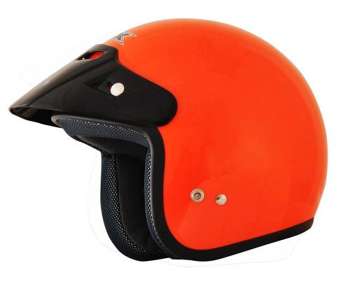 casco afx fx-75 2016 sólido rostro descubierto naranja lg