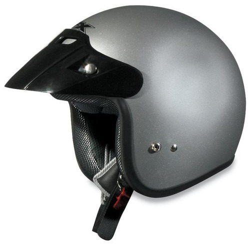 casco afx fx-75 sólido plata xs