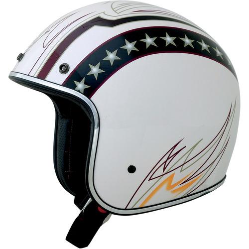 casco afx fx-76 blanco con líneas 2xl