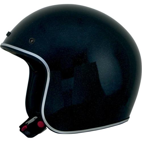 casco afx fx-76 sólido copo de metal negro lg