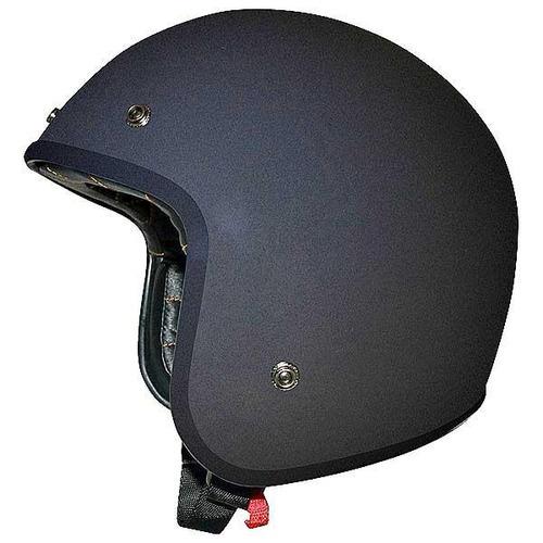 casco afx fx-76 sólido plano negro md